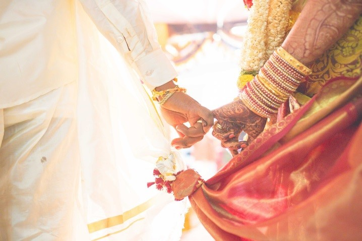 Asian Wedding Hand Hold